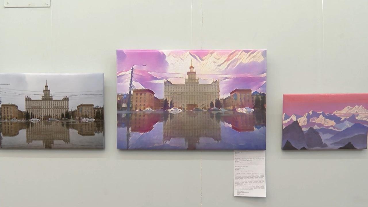В вузе Челябинска открылась уникальная выставка виртуального художника